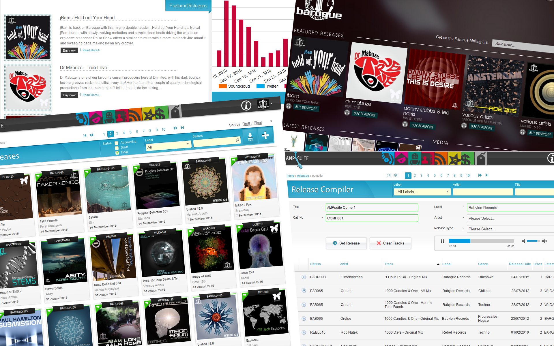 record label management software